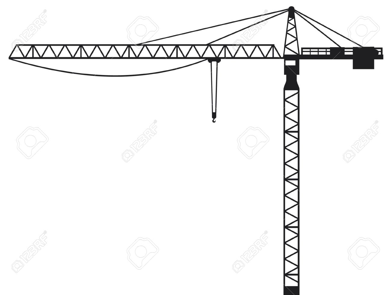 Crane Building Crane, Tower Crane Royalty Free Cliparts, Vectors.