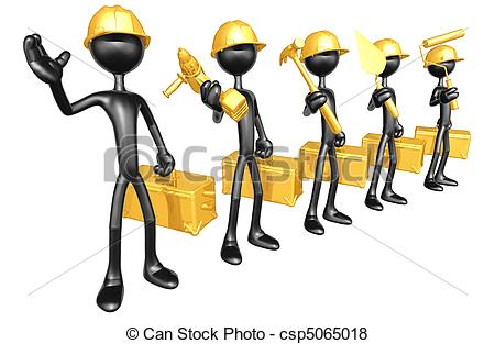 Construction crew Stock Illustration Images. 395 Construction crew.