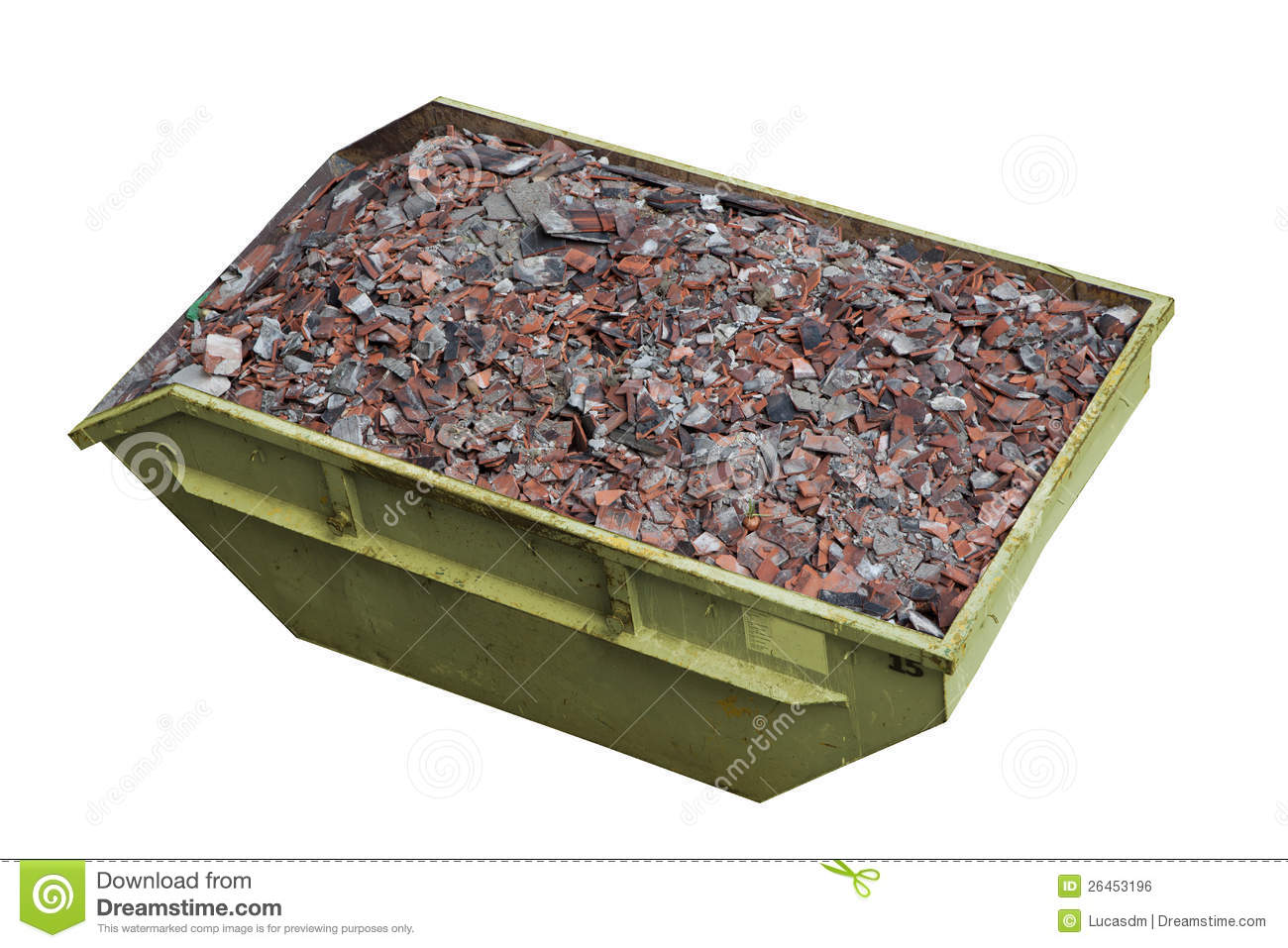 A Container Full Of Construction Debris Royalty Free Stock Image.