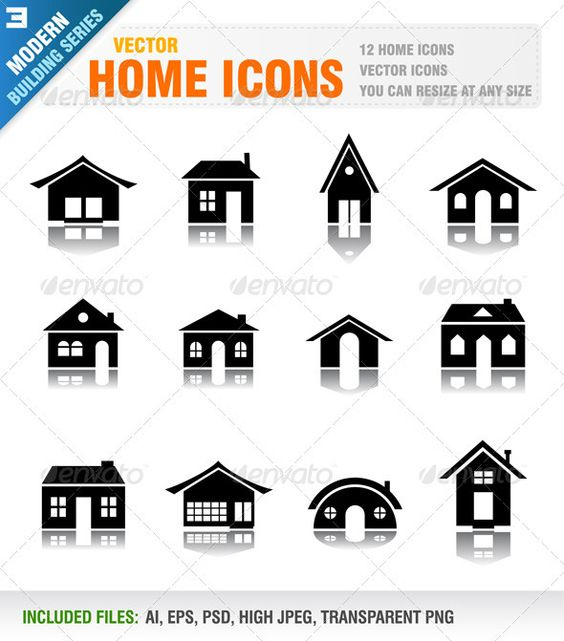 Icon illustrations, Icons and Building on Pinterest.