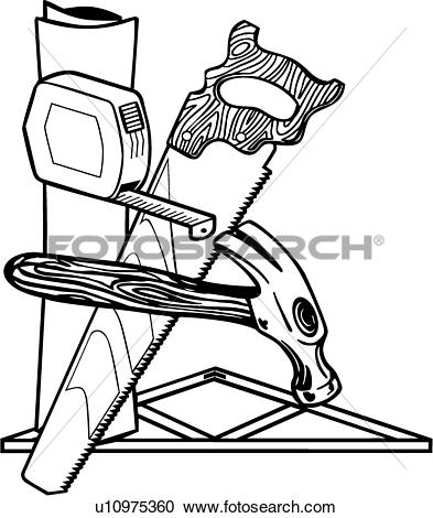 Clipart of , tools, business signs, construction, elements.