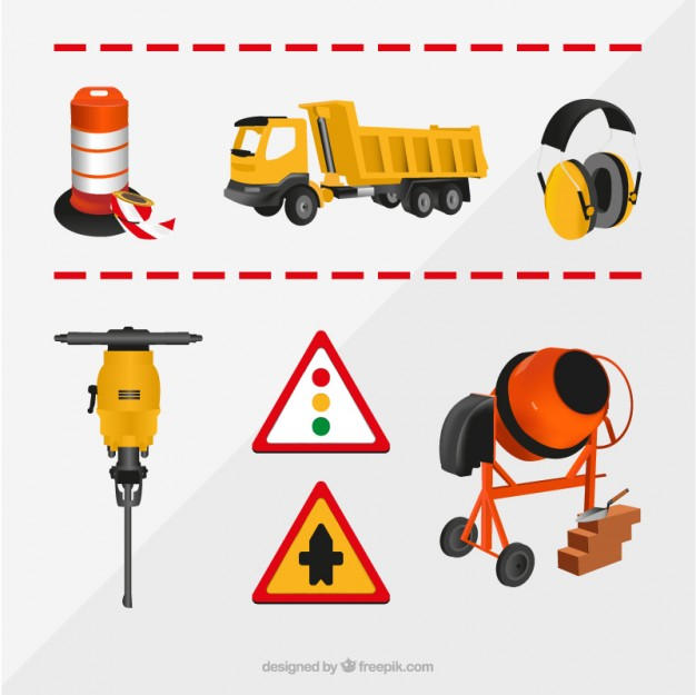 Construction elements collection Vector.