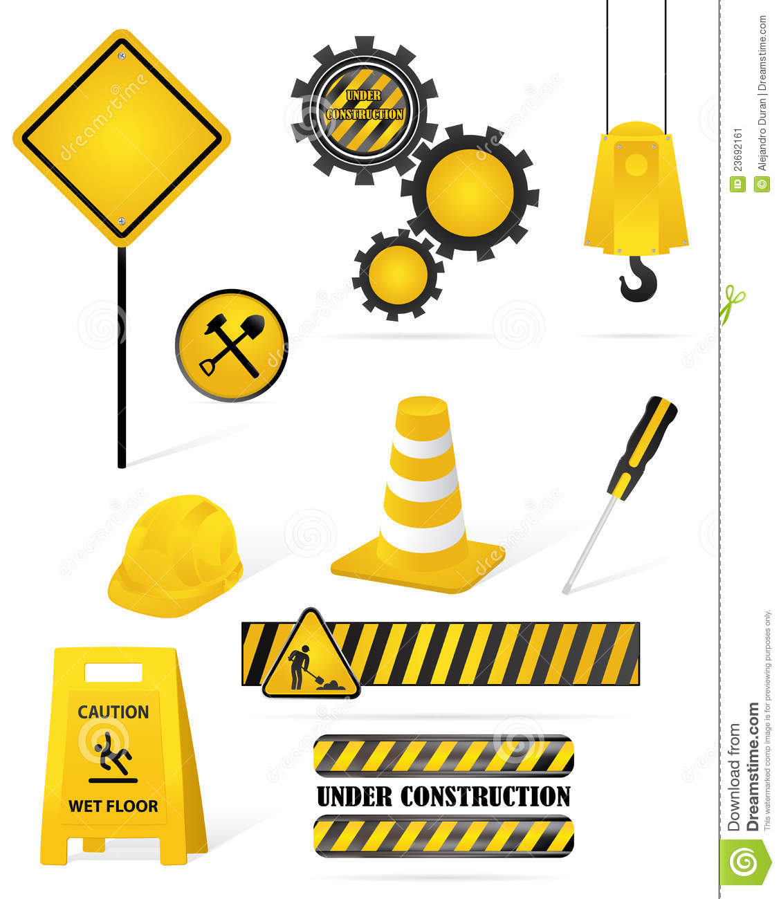 Construction Elements Stock Image.