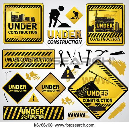 Clip Art of under construction element k6766708.