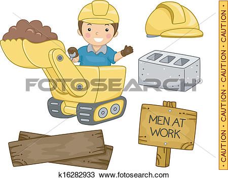 Clipart of Construction Elements k16282933.