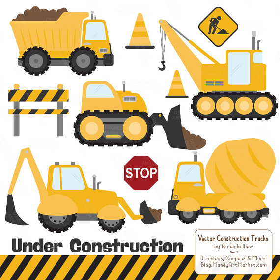 Construction equipment clipart images.