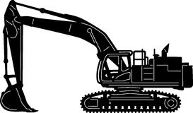 Construction equipment clipart black and white.