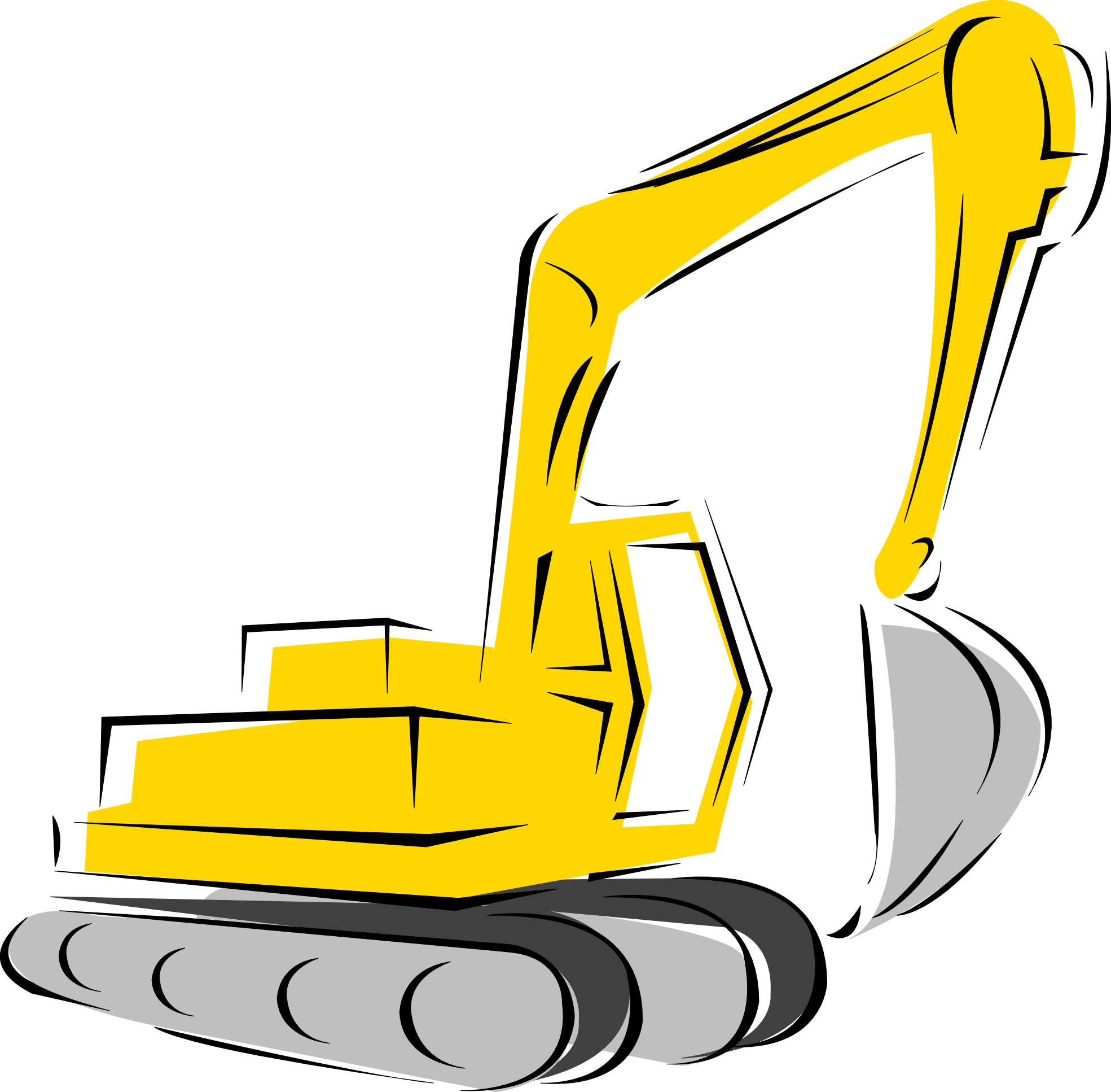 Construction equipment clipart.