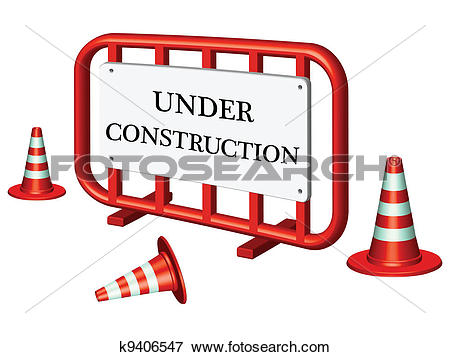 Clip Art of under construction fence k9406547.