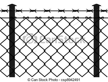 Barbed Wire Fence Clipart.