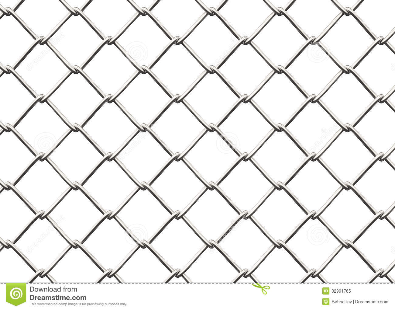 Chain link fence.