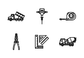 Tools & construction icons.