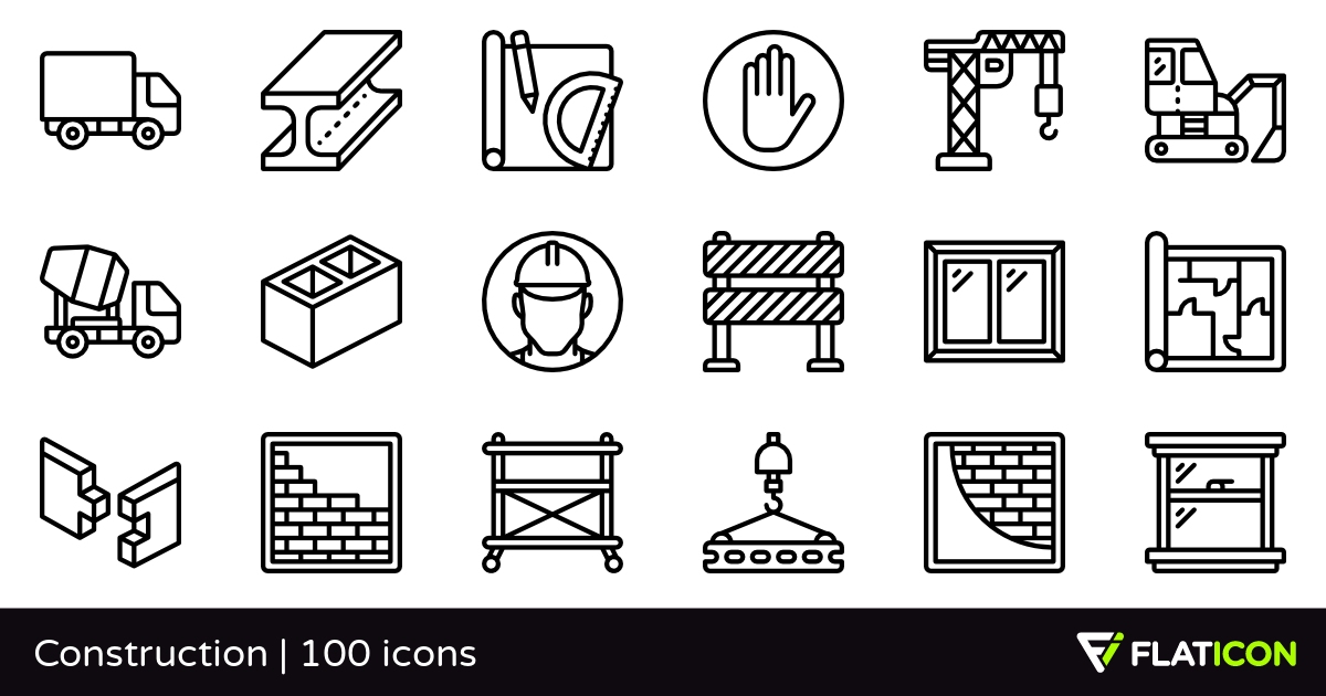 Construction 100 free icons (SVG, EPS, PSD, PNG files).