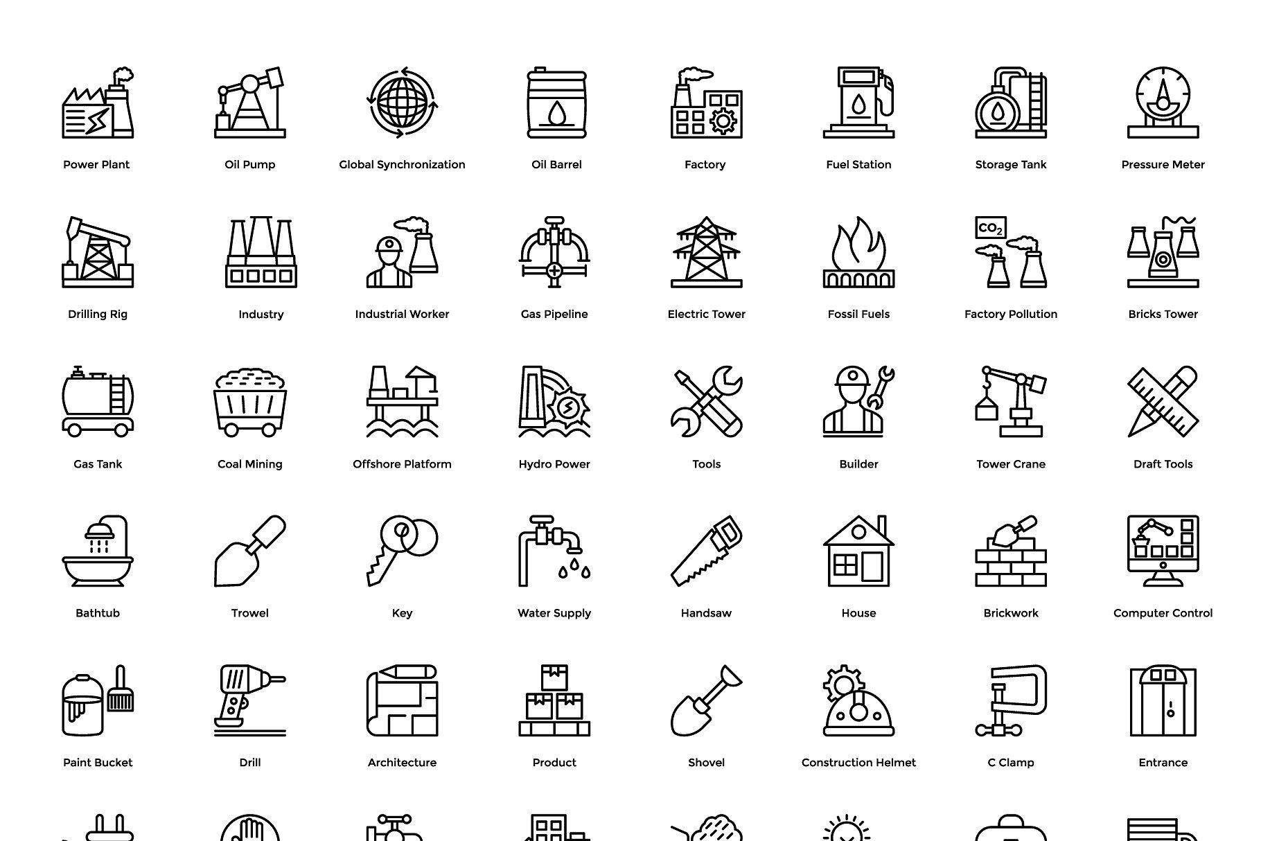 192 Industrial and Construction Icon #Industrial#Construction#Icons.