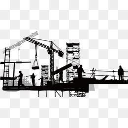Construction Silhouette, Sketch, Buildin #2128.