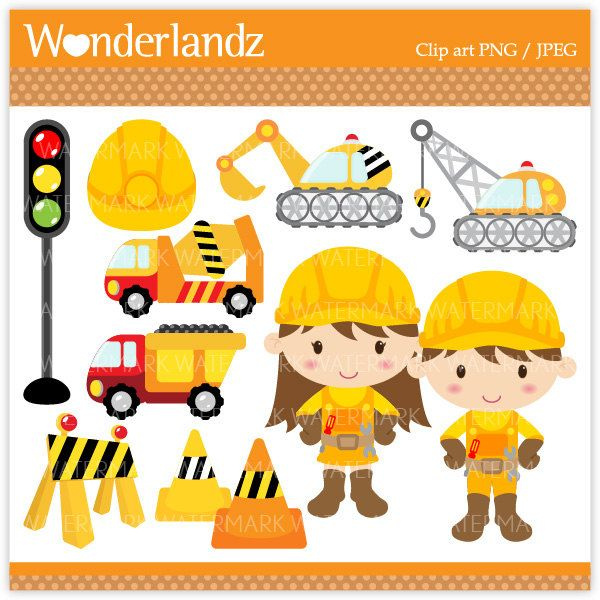 Construction Theme Clip Art.