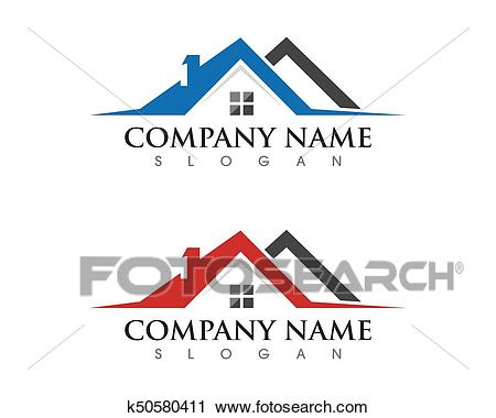 Property and Construction Logo Clipart.