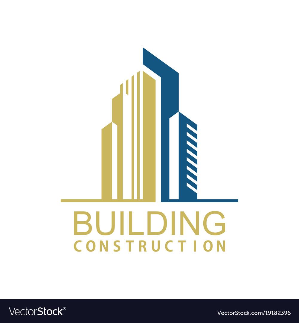 Building town construction logo.