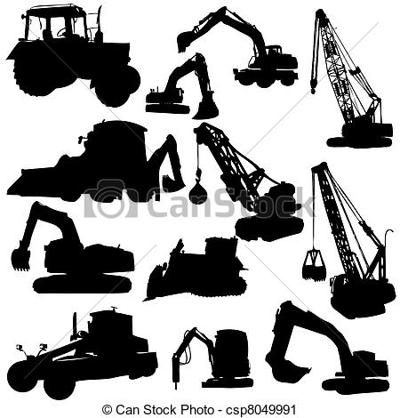 Construction machine Vector Clipart EPS Images. 14,960.