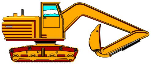 Construction Machines Clipart.