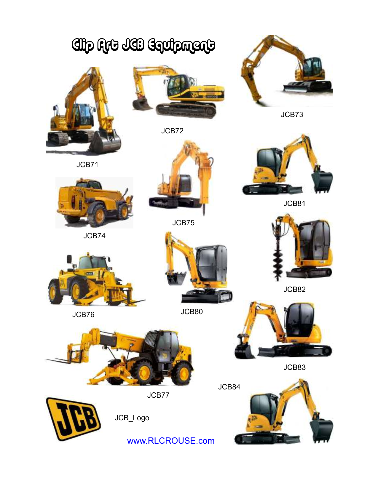 Construction Equipment Clipart.