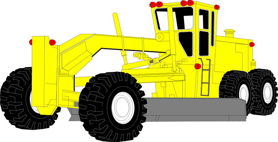 Heavy construction equipment clipart.