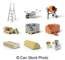 Construction material clipart.