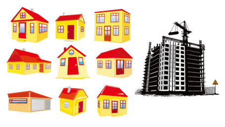 House construction material, Clip Art.