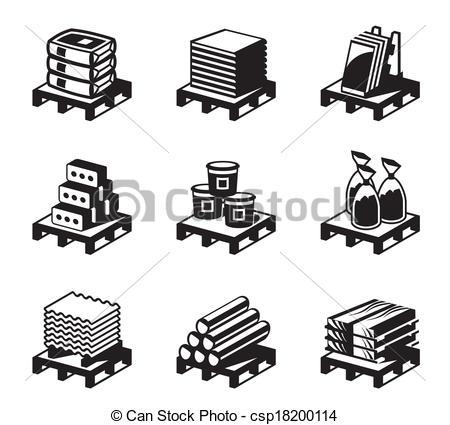 Construction Materials Clipart.
