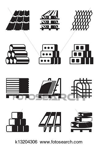 Building and construction materials Clip Art.
