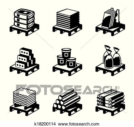 Building and construction materials Clipart.