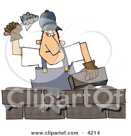 Construction of the wall clipart #14