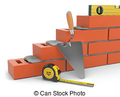 Construction of the wall clipart #18