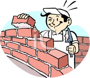 Construction of the wall clipart #10