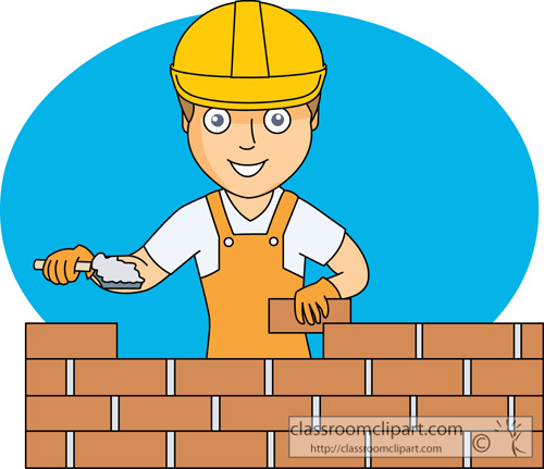 Construction worker classroom clipart.
