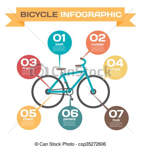 Vector Clipart of Infographics set Design and construction of.