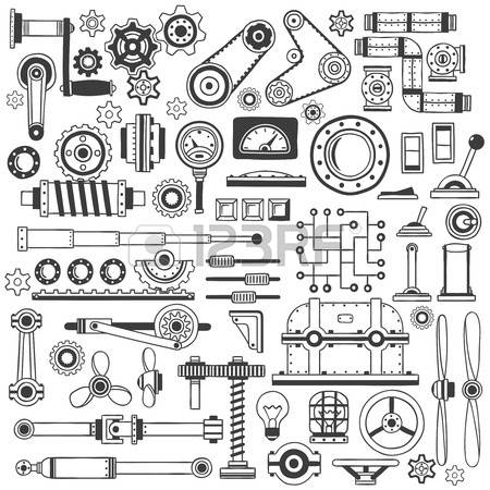 17,715 Machine Parts Stock Vector Illustration And Royalty Free.