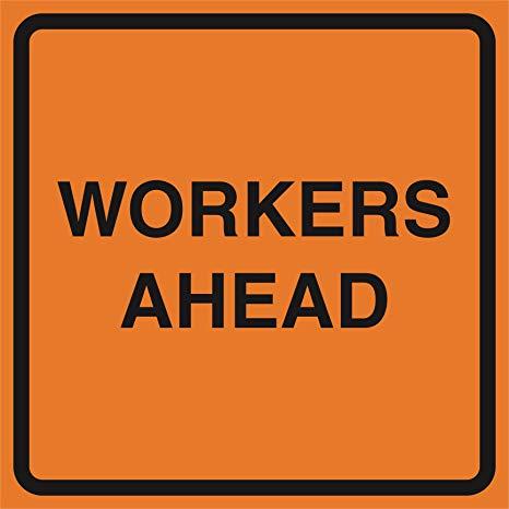 Amazon.com : Workers Ahead Orange Construction Work Zone.
