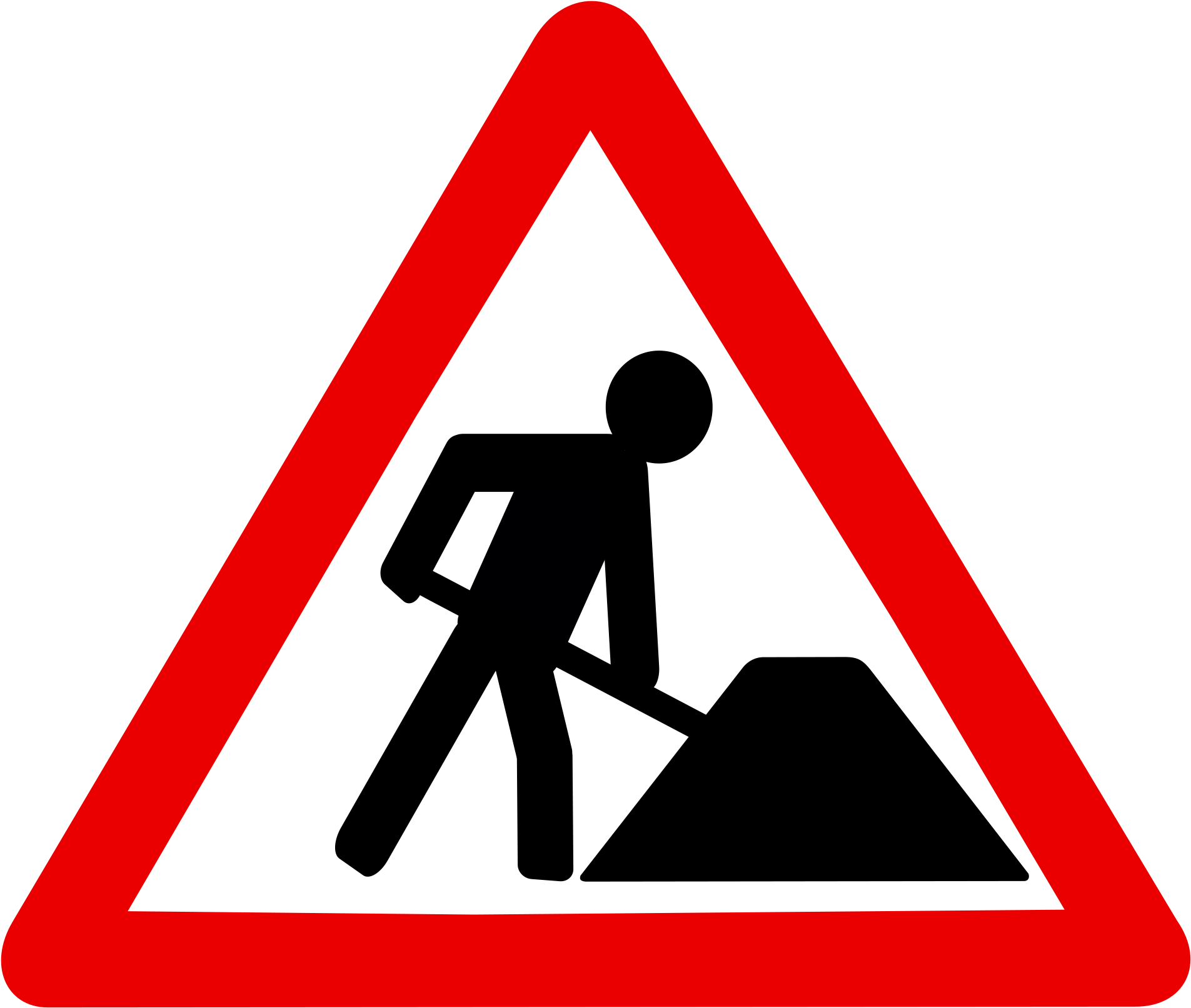 Red Construction Traffic Signs Road Works.