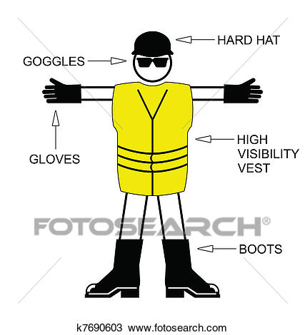 Construction Health and Safety Clipart.