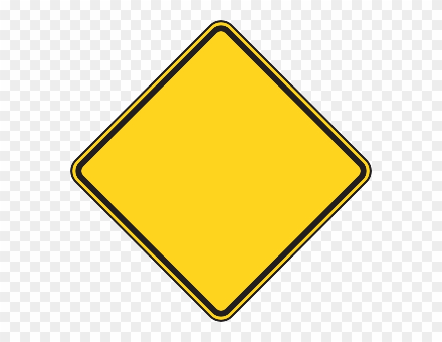 Blank Yellow Construction Sign Clipart (#114927).