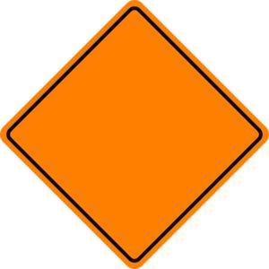 Orange Construction Sign clip art.