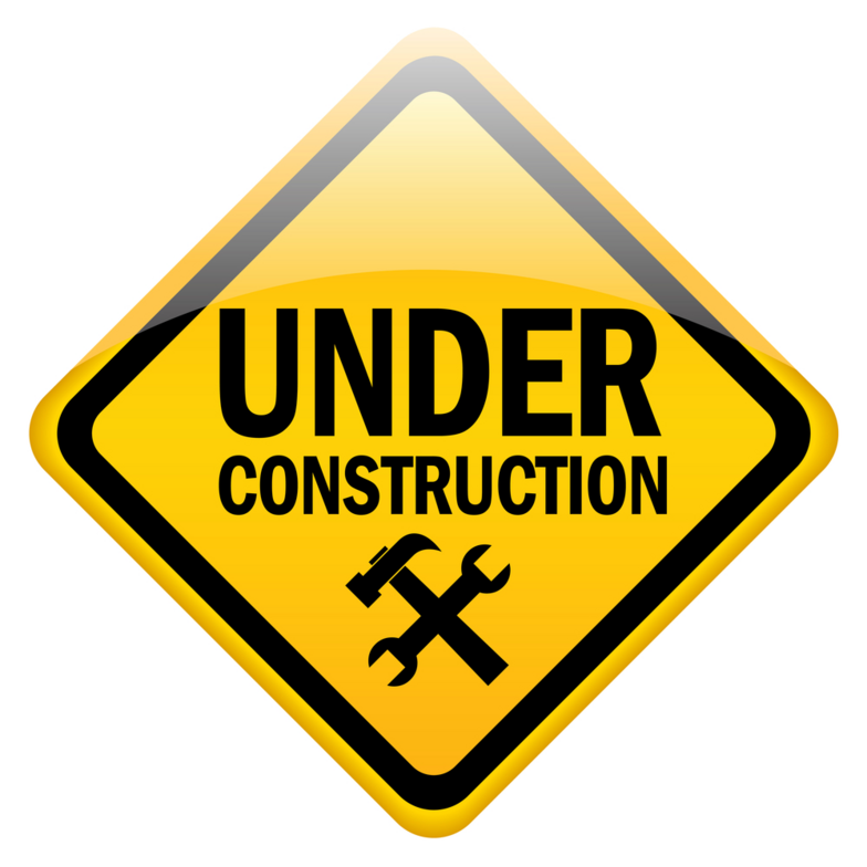 Free Construction Sign Clipart Image.