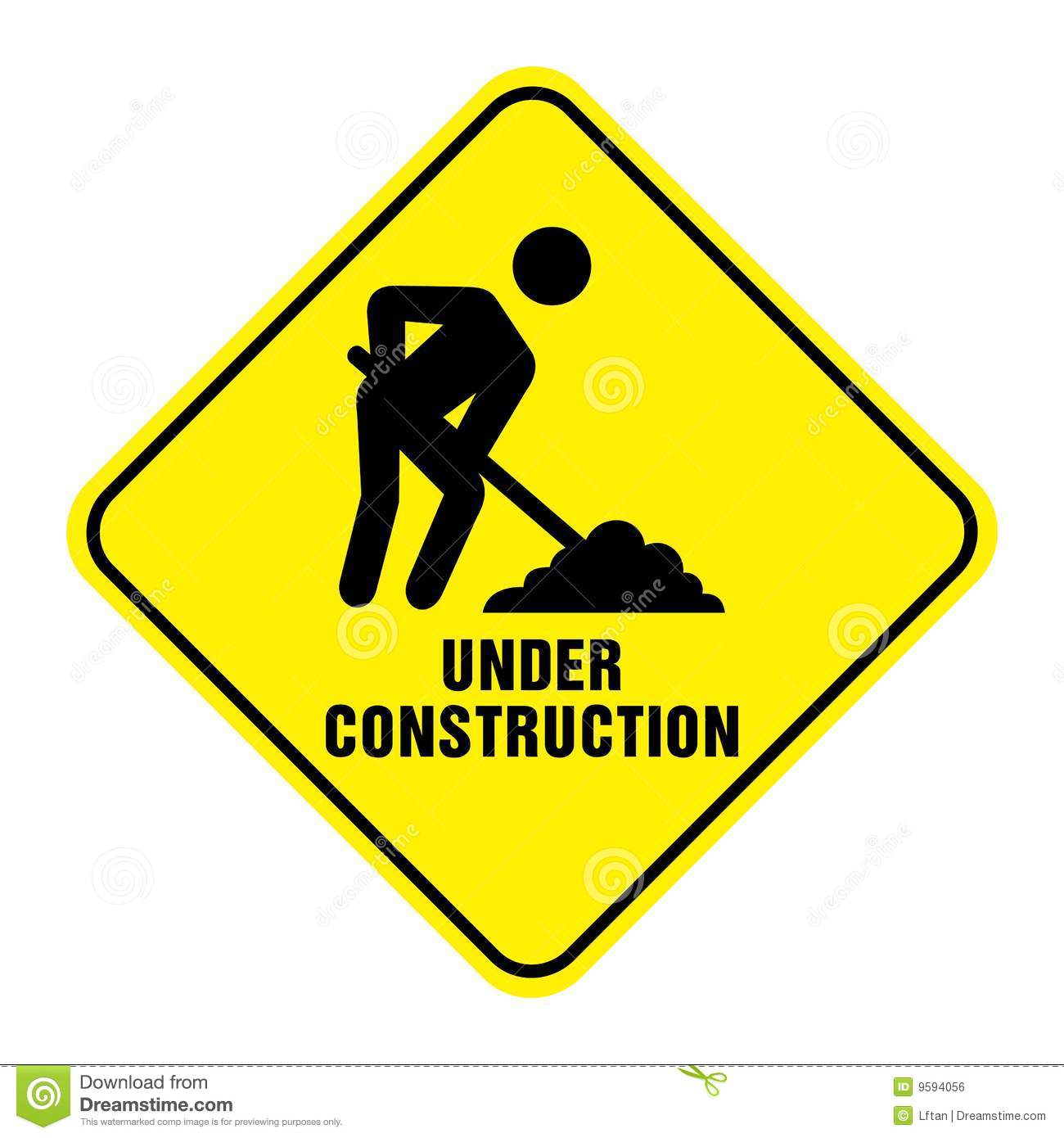Under construction sign clip art.