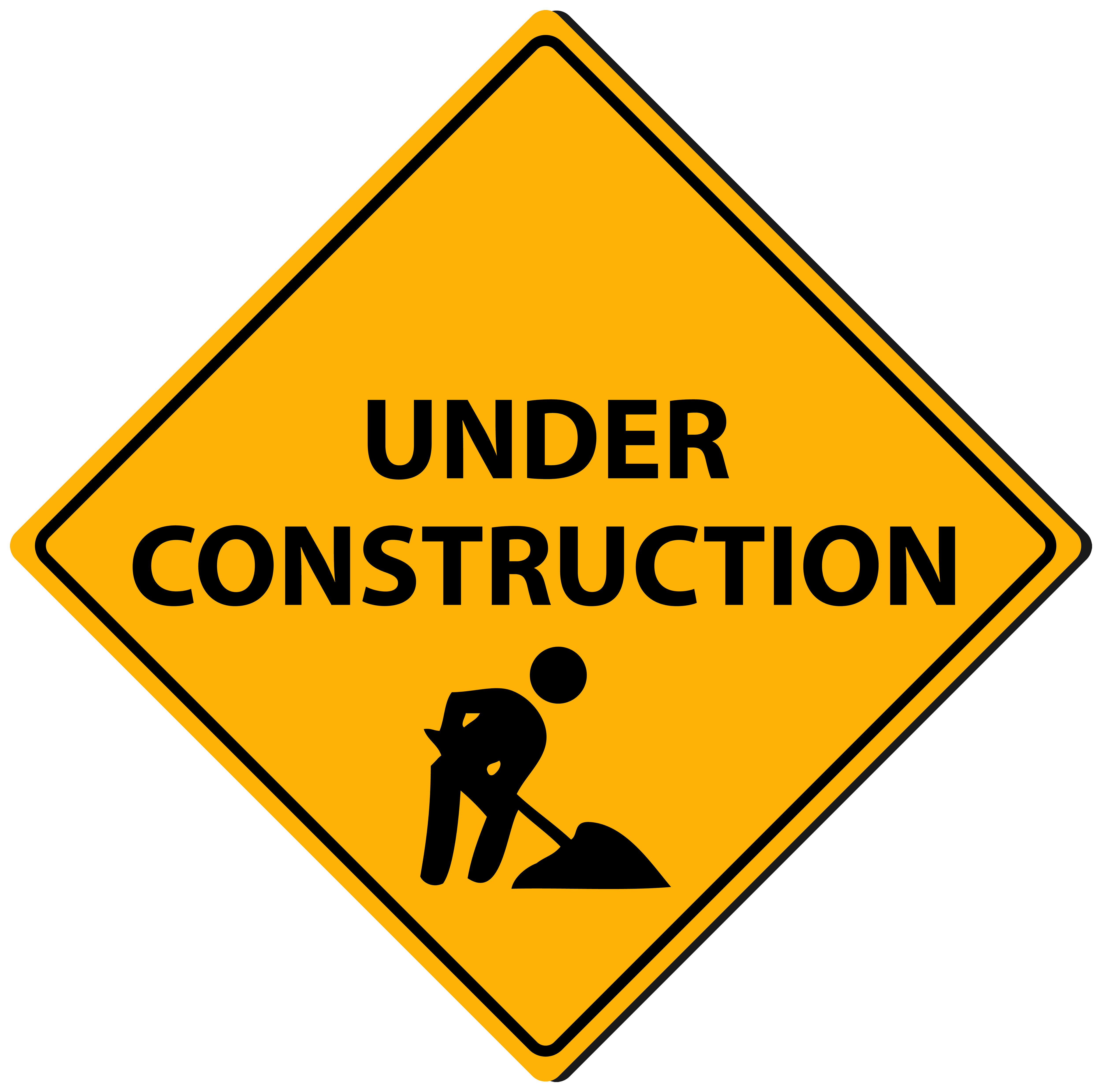 Triangle Under Construction Sign PNG Clipart.