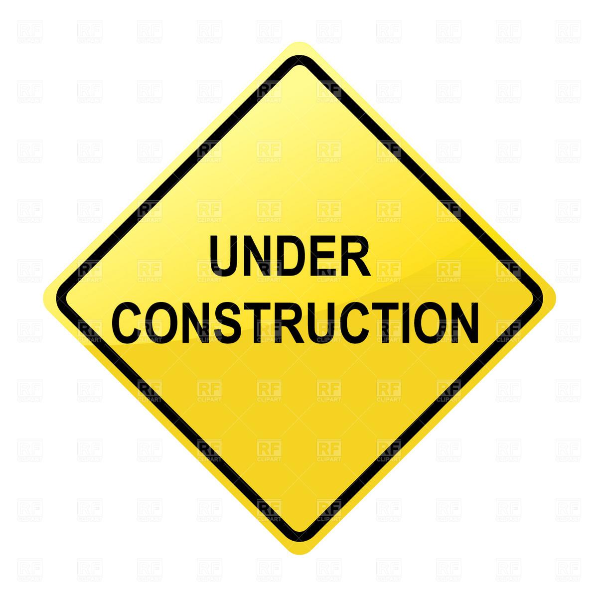 Under construction sign clip art.