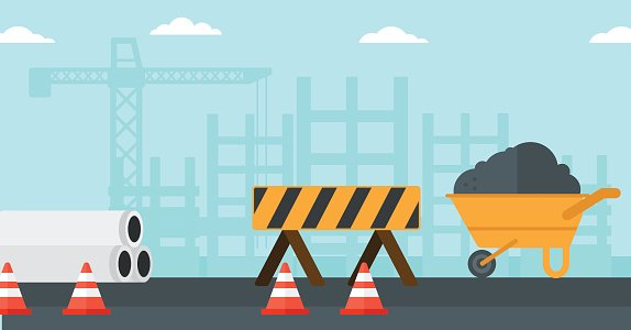 Background of Construction Site premium clipart.