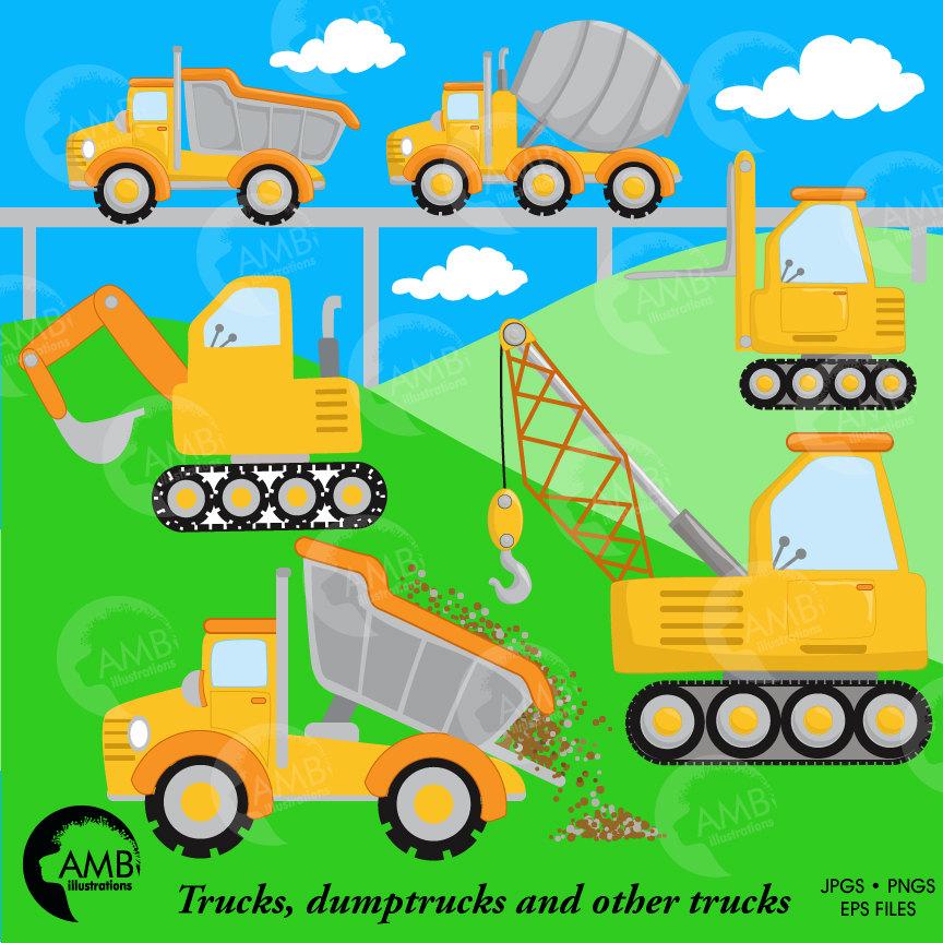 Construction Clipart, Dump Truck Clipart, Construction Boy, Construction  Background, Truck clipart, AMB.