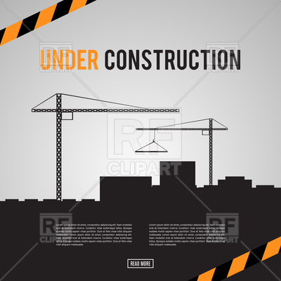Building under construction site background Vector Image.
