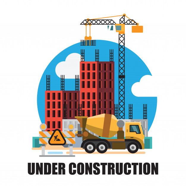Building under construction site background Vector.